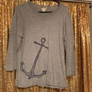 J Crew Anchor sweater